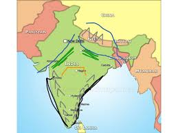 India River Map by India Map History India Showme