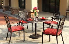 Patio Furniture Dining Set Patio Furniture Dining Set Cast Aluminum 36 Square Table 5pc