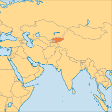 where is the republic on the world map kyrgyzstan operation world
