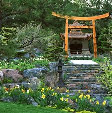 backyard japanese garden design landscape modern with shrubs
