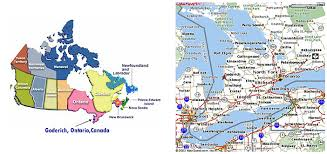 map of southeast canada maps pinpointing where goderich is located my wilkinson line