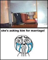 Bathroom Stall Meme - who said women can t propose might as well go all out and do it