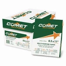 Office Furniture And Supplies by Comet Copy Paper 92 Brightness 20lb 8 1 2 X 11 White 5000