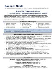 Profile For Resume Examples Profile Resume Samples Personable Profile Objective For Resume