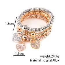 bracelet elastic heart images Cute heart bracelet for her kazari jewelry jpg