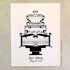 personalized wedding gifts personalized wedding cake print wedding gift for