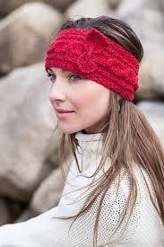 knit headband merino cable knit headband with bow aran islands knitwear