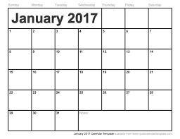 january 2017 calendar template weekly calendar template