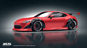 frs scion red ml24 automotive design prototyping and body kits