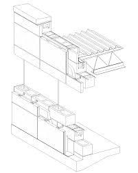 cast in place concrete wall section detail concrete block veneer