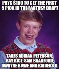 Adrian Peterson Memes - bad luck brian meme imgflip