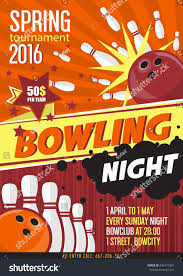 bowling ball black friday bowling tournament poster template design bowling stock vector