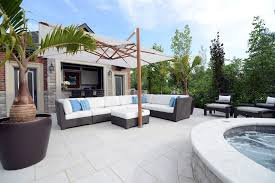 sophisticated outdoor sitting room to make guest feel comfort