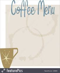 coffee shop menu template templates coffee shop menu stock illustration i2495555 at