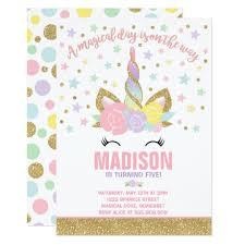 birthday invitations rainbow unicorn birthday invitation pink gold unicorn birthday