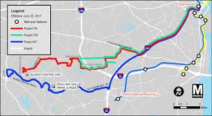 Metro Rail Dc Map by Metrobus Service Changes June 25 Wmata