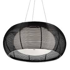 2362 40bk black aluminium wire 2 light pendant with opal glass
