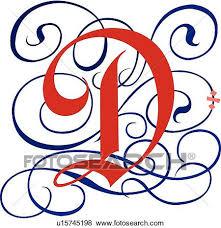clip art of gothic letter d u15745198 search clipart