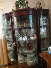 Beveled Glass China Cabinet Curved Glass China Cabinet Ebay