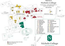 Colleges In Massachusetts Map by Campus Map July 2014 Nichols College