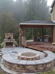 Backyard Brick Patio Design With Grill Station Seating Wall And by Best 25 Outdoor Oven Ideas On Pinterest Pizza Ovens Pizza Oven