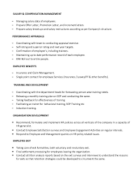 Sample Resume Hr by Resume Hr Generalist
