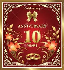 10th wedding anniversary 10th wedding anniversary royalty free cliparts vectors and stock