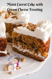 moist carrot cake with cream cheese frosting veena azmanov