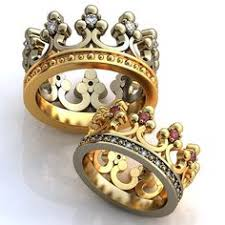king and crown wedding rings wedding rings crown 14k white and yellow gold ruby white
