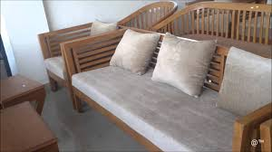 teak wood sofa set with square design youtube