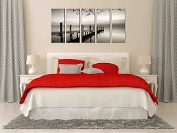 wall art for bedroom shenra com amazon com black and white sea lake canvas prints lake bridge