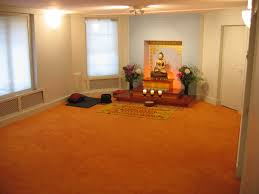 Meditation Home Decor Deluxe Meditation Room Design With Cream Wall And White Window