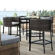 Bar Height Patio Set With Swivel Chairs Incredible Outdoor Bar Height Chairs Tallahassee Outdoor