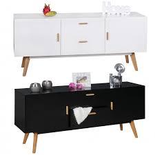 Schlafzimmer Kommode Walnuss Finebuy Retro Sideboard Scanio Mdf Holz 2 Schubladen U0026 Türen