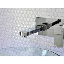 smart tiles hexago 11 27 in w x 9 64 in h decorative mosaic wall