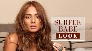 surfer look beach makeup tutorial