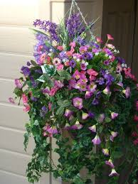 hanging flowers 15 best artificial flower hanging baskets images on