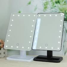 Dual Illuminated Vanity Mirrors Bathroom Best Led Makeup Mirror Wide View Tools Illuminated Make
