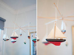 diy sailboat crib baby mobile made from ornaments where