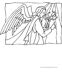 angel color bible story color coloring pages