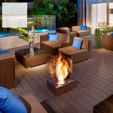 ecosmart fire mini t ventless outdoor fireplace stardust