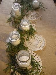 mason jars doilies and burlap christmas pinterest burlap