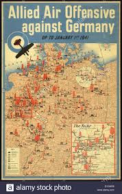 Map Og Germany by British Poster Map Of The Allied Aerial Bombing Of Germany Up To
