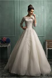 modest wedding dresses with 3 4 sleeves gown high neck 3 4 sleeve lace organza wedding dress with buttons