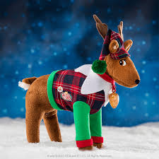 on shelf reindeer on the shelf claus couture playful reindeer pj s on the
