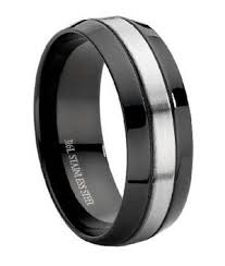 mens stainless steel wedding bands stainless steel black mens wedding ring