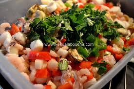 cuisiner cocktail de fruits de mer surgelé salade de fruits de mer l eau à la bouche