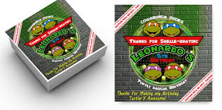 personalized pizza boxes mutant turtles party pizza box labels personalized