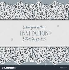 Invitation Card Background Design Vector Floral Swirls Decorated Invitation Card Stock Vector