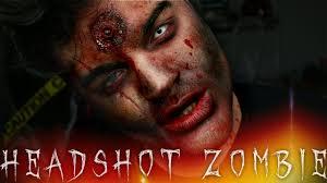 headshot zombie halloween makeup tutorial 31 days of halloween
